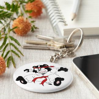 Basic Keyring Basic Round Button Key Ring