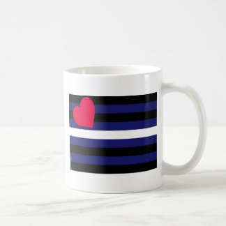 Basic Leather Pride Flag Coffee Mug
