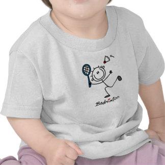 Basic Male Stick Figure Badminton T Shirts