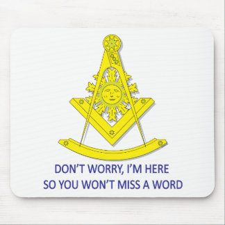 BASIC MASONIC PAST MASTER MOUSE PAD