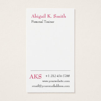 Basic Modern Design Strawberry Ice Custom Color Business Card