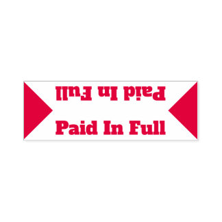 """Basic """"Paid In Full"""" Rubber Stamp"""