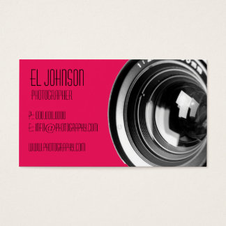 Basic Photography Business Card (Rose Petal)