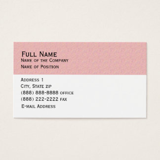 Basic Pink Business Card