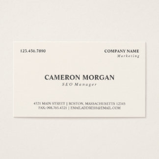 Basic Professional Business Card