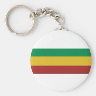 Basic Rasta Stripes Basic Round Button Key Ring