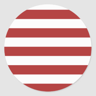 Basic Red and White Stripes Pattern Sticker