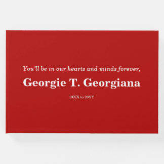 Basic & Respectable Condolences Guestbook