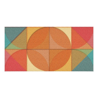 Basic shapes customised photo card