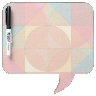 Basic shapes dry erase board