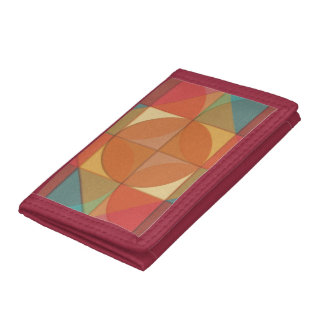 Basic shapes trifold wallets