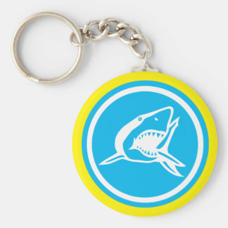 Basic Shark Button Keychain