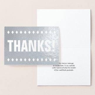 "Basic Silver Foil ""THANKS!"" Card"