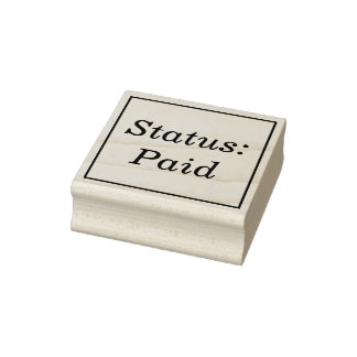 """Basic """"Status: Paid"""" Rubber Stamp"""