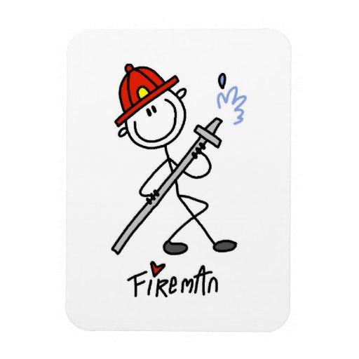 Basic Stick Figure Fireman T-shirts and Gifts Magnet