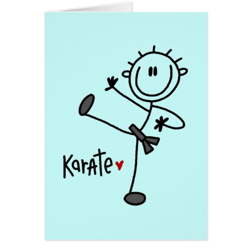 Basic Stick Figure Karate T-shirts and Gifts Cards