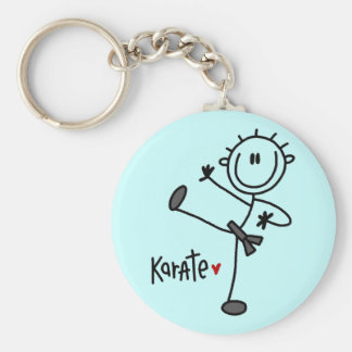 Basic Stick Figure Karate T-shirts and Gifts Key Ring