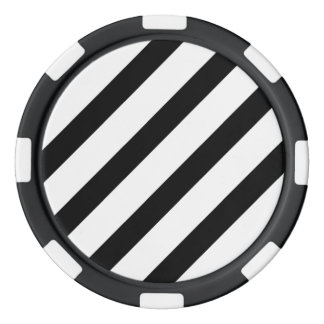 Basic Stripe 1 Black and White Poker Chips