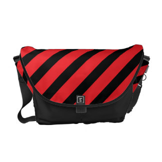 Basic Stripe Red Messenger Bag