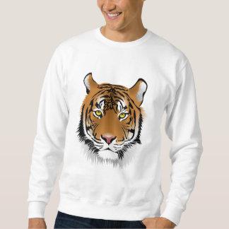 Basic Suéter - Designer Tiger Frontal Sweatshirt