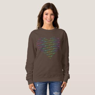 BASIC Sweater Hearthbeats 1 pure Chocolate