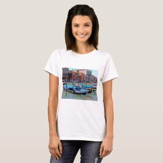 Basic T-shirt featuring Gondolas & the Grand Canal