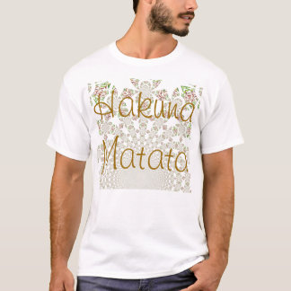 Basic T-Shirt Template Hakuna Matata