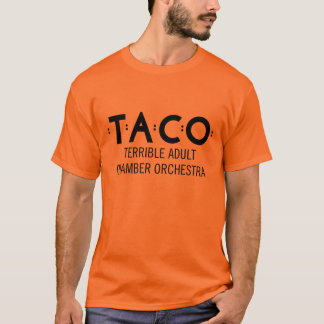 Basic TACO T-Shirt, Orange and Black T-Shirt