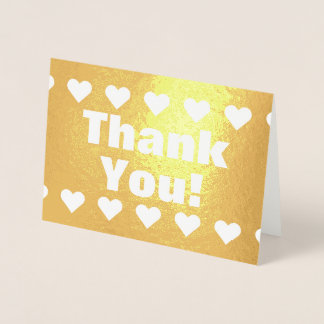"""Basic """"Thank You!"""" Card With Heart Shapes"""