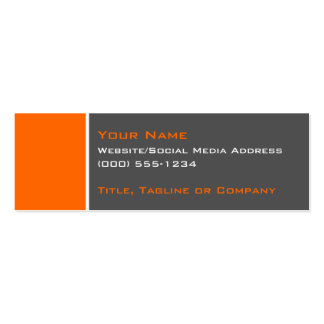 Basic Two Colour Orange 2 Pack Of Skinny Business Cards