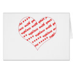 Basic White Heart Shaped Photo Frame Greeting Card