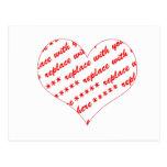 Basic White Heart Shaped Photo Frame Post Cards