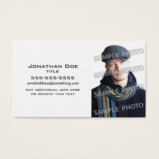 Basic White Photo Template Business Card