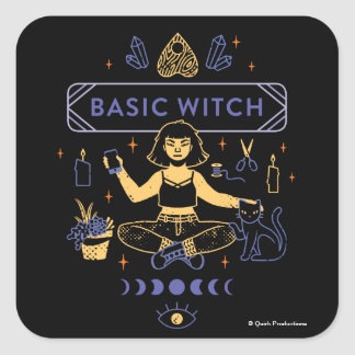 Basic Witches - Camille Chew Square Sticker