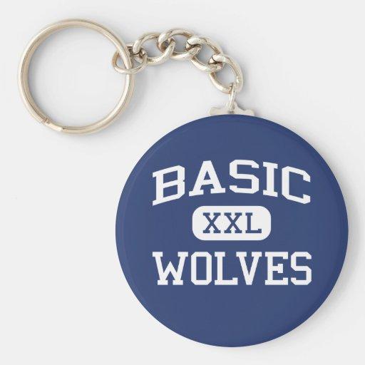 Basic - Wolves - High School - Henderson Nevada Keychain