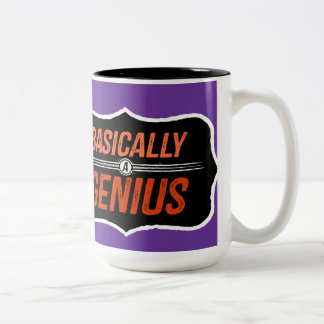 Basically A Genius (for Christie) Two-Tone Coffee Mug