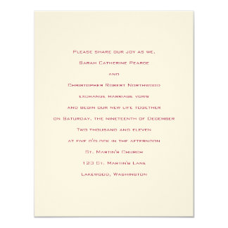 Basics ::  Venetian Red :: Wedding Invitation
