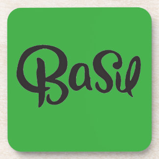 BASIL SPICES WORD COOKING TASTY NAMES COASTERS