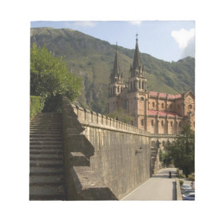 Basilica de Covadonga, northwestern Spain. Notepad