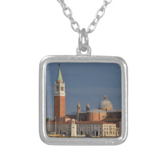 Basilica in Venice in Italy Silver Plated Necklace