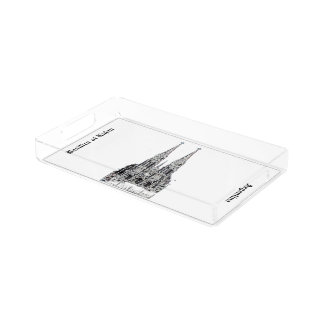 Basilica of Lujan (Pencil design) Acrylic Tray