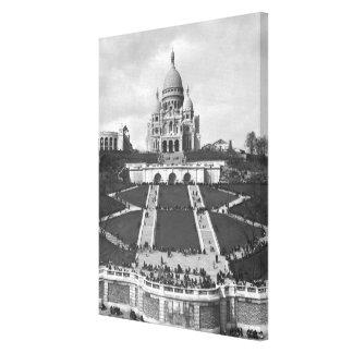 Basilica of Sacre-Coeur Montmartre 1876-1910 Canvas Print