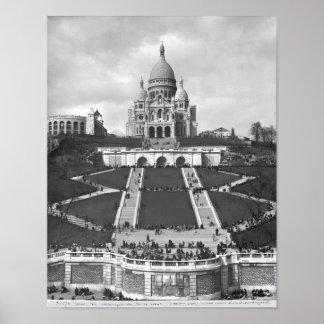 Basilica of Sacre-Coeur, Montmartre, 1876-1910 Poster