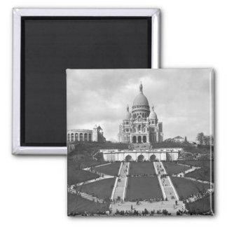 Basilica of Sacre-Coeur, Montmartre, 1876-1910 Square Magnet