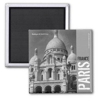 Basilique du Sacré-Cœur Paris France Square Magnet