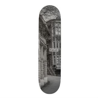 Basin Park And Flatiron Flats Grayscale Custom Skate Board