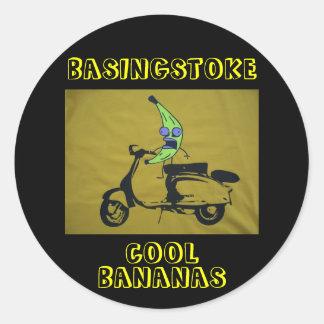 BASINGSTOKE COOL BANANAS CLASSIC ROUND STICKER