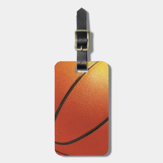 Baskeball custom luggage tag