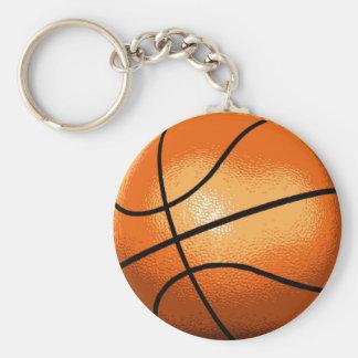 Basket Ball Basic Round Button Key Ring
