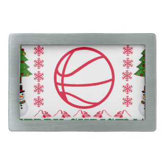 BASKET BALL MERRY CHRISTMAS . BELT BUCKLE